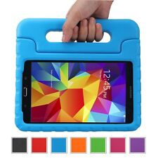 "Kids Safe Carry Heavy Duty Shockproof Rubber Case Cover Stand for Samsung Tablet Galaxy Tab 4 10.1 Inch T530 10.1"" Device Blue"
