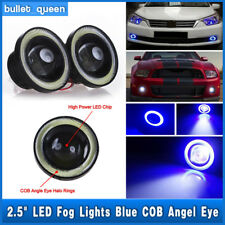 High Power LED Projector Fog Light w/ Blue COB Halo Angel Eye Ring For Nissan US