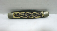 Vintage Colonial Prov. Folding Pocket Knife Two Blade Carved Handle Collector