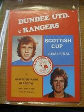 05/04/1978 Scottish Cup Semi-Final: Dundee United v Rangers [At Hampden Park] .