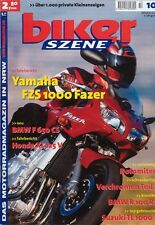 BS0110 + YAMAHA FZS 1000 Fazer + BMW R 100 RS + biker SZENE 10/2001