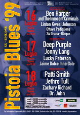 Deep Purple PATTY SMITH Jethro Tull flyer 15x 21 cm mini poster ITALY 1999 blues