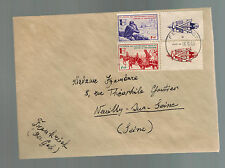 1943 France Cover Waffen SS Foreign Legion Volunteer Stamps with Tabs to Seine