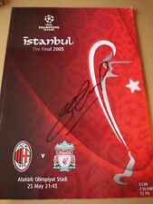 Signed Steven Gerrard Istanbul 2005 Champions League Final Programme - C.O.A.