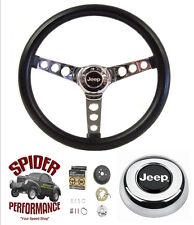 "1976-1986 JEEP CJ5 CJ7 steering wheel 13 1/2"" Classic Chrome"
