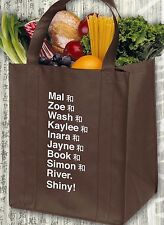 Browncoat Firefly Serenity Crew Name List Big Damn Brown Reusable Grocery Bag
