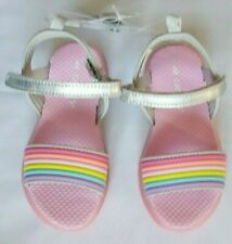 Carter's Toddler Girls' Sandals With Lights Pink Rainbow Size 8  New With Tags