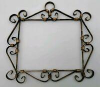 Cornice Ferro Battuto Vintage 20x16 cm antica vecchia arredamento specchio
