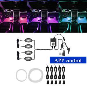 Car 12V One For Nine Cold Light Remote Control RGB Sole Atmosphere Light APP Kit