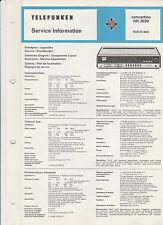 Telefunken Concertino HiFi 3030 / Service Info / manual / Schaltbild ect....
