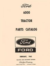 Ford 6000 Series Commander Tractor Parts Catalog Manual