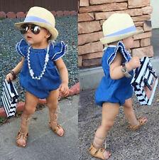 AU Stock Toddler Baby Girl Denim Romper Bodysuit Playsuit Sunsuit Outfit Clothes