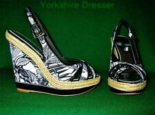 Wedge Patent Leather Floral Heels for Women