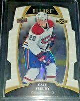 2019-20 Cale Fleury  #95 UD Allure White Rainbow Rookie Montreal Canadiens
