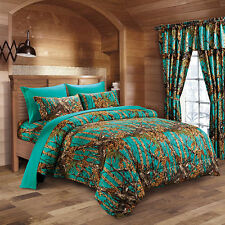 Teal THE WOODS WOODLAND CAMO FULL-QUEEN COMFORTER-FREE SHIP