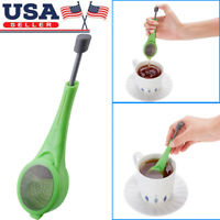 Tea Infuser Loose Tea Leaf Strainer Herbal Spice Silicone Filter Diffuser New