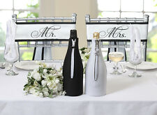 Pair of Mr. and Mrs. Satin Chair Sashes Wedding Reception Decoration