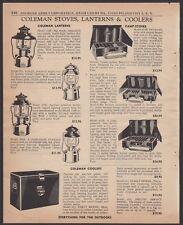 1956 COLEMAN 228E, 202, 220E, 200A Lantern and Camp Stove 425B, 426B, 413E AD