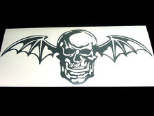 Avenged Sevenfold Sticker Decals Batskull set of 2 giant stickers, CHOOSE COLORS