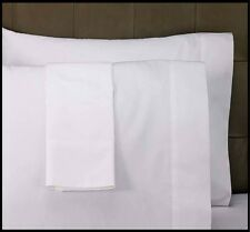 6 NEW BRIGHT WHITE T250 PREMIUM PILLOW CASES STANDARD SIZE HOTEL GRADE