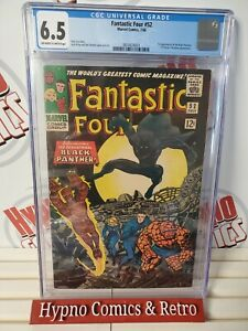FANTASTIC FOUR #52 CGC 6.5 - 1ST APPEARANCE OF BLACK PANTHER! 1966 KEY MARVEL