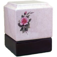 Large/Adult 200 Cubic Inches Pink Rose Ceramic Funeral Cremation Urn for Ashes