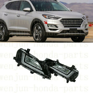 1 Set LED Front Foglight(DRL)Kits With Harness For Hyundai Tucson 2019-2021