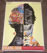 PEARL JAM - Auckland NZ  2014 Tristan Eaton Poster  1/17/14 Big Day Out Festival