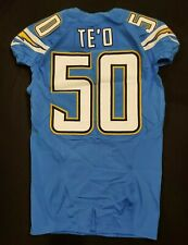 2016 MANTI TE'O SAN DIEGO CHARGERS PLAYER ISSUED PROFESSIONAL MODEL JERSEY