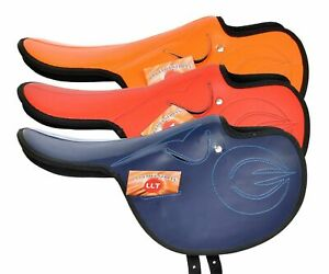 Light Weight Racing Synthetic Horse Saddle in three Color + Free Fly Veil F/Ship