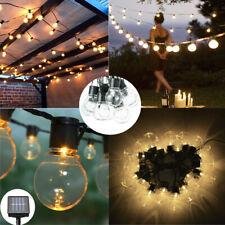 20 LED Solar Lichterkette Kugeln Innen Außen Garten Party Licht Deko Warmweiß