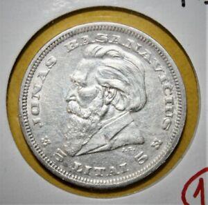 Lithuania 5 Litai 1936 Brilliant Uncirculated Silver Coin - Basanavicius