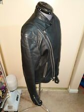 BBC •BILLIONAIRE BOYS CLUB• WOLFMAN Black Leather Motocycle Jacket Medium •Mint•