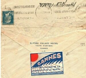 France Cover*CANNES* Vignette POLO GOLF TENNIS Cancel 1932{samwells-covers}SS309