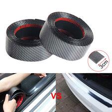 3CMx1M Car Carbon Fiber Rubber Edge Guard Strip Door Sill Protector Sticker