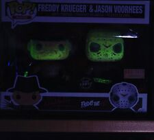 Funko Pop Jason Freddy Krueger Custom Glow In Dark Box Lunch Exclusive 2 Pack
