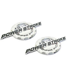 1Pcs 6.0L PowerStroke Intercooled Turbo Diesel Truck SuperDuty Badge 3D Emblem Chrome//Red//Black