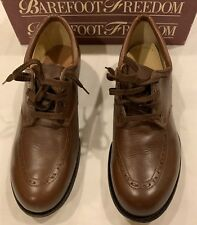 Drew Womens Barefoot Freedom Top hat Size 9 C Leather Short Back Heels Camel