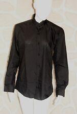 Chemise noire col officier neuve marque Canotti  taille L (41-42) (dy)