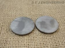 "Mild Steel Disc Circle 50mm(2"") dia x 5mm(3/16"") Pk of 2 - Laser Cut"