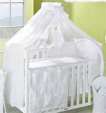 LUXURY BABY CANOPY /DRAPE 480cm WIDTH + HOLDER Fit COT /COT BED - White