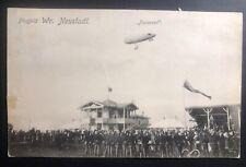 1911 Neustadt Austria RPPC Postcard Cover To Vienna Parseval Military Balloon