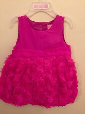 New TCP the childrens place pink girls Dress rosette 9-12m W/ Diaper Cover
