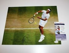 ROGER FEDERER SIGNED AUTHENTIC 11X14 PHOTO JSA COA WIMBLEDON CHAMP GRAND SLAM