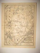 New ListingAntique 1847 White Mountains New Hampshire Portland Maine Railroad Dated Map Nr