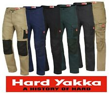 "HARD YAKKA - ""LEGENDS"" 100% COTTON  MENS TRADIE CARGO PKT  WORK PANTS  - Y02202"