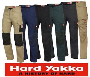 "HARD YAKKA - ""LEGENDS"" 100% COTTON  MENS TRADIE CARGO PKT  WORK PANTS  - Y02202"