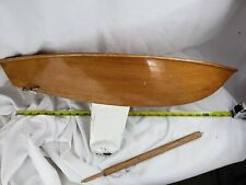 Beautiful Sailing Boat - Hand Made Large Wood Runabout Model 25""