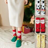 Women Ladies Christmas Slipper Fluffy Socks Warm Lovely Winter  Xmas Sock