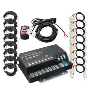 160W 8 HID Bulbs Hide A Way Emergency Hazard Warning Strobe Light System UK K K